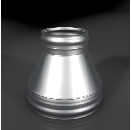 Конус КТ-Р 304, 0,5/304, 0,5 d 120/220 с хомутом на замке ТИС - фотография 1