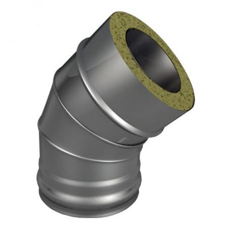 Отвод ОТ-Р 45* 304, 0,8/304, 0,5 d 200/300 с хомутом на замке, произв. ТИС - фотография 1