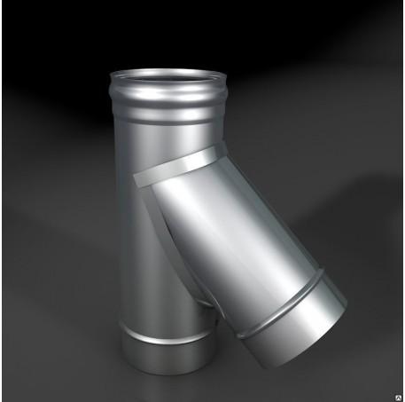 Тройник моно ТРМ-Р 45* 304,  0,8 d 120, произв. ТИС - фотография 1