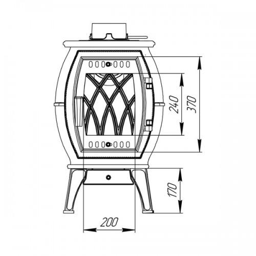 Отопительно-варочная печь-камин Бахта - фотография 3