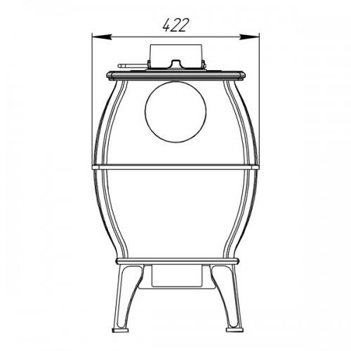 Отопительно-варочная печь-камин Бахта - фотография 5