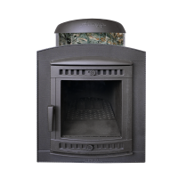 Банная печь Атмосфера в ламелях Жадеит перенесенный рисунок