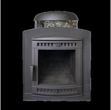 Банная печь Атмосфера в ламелях Жадеит перенесенный рисунок - фотография 1
