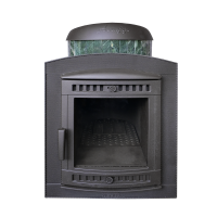 Банная печь Атмосфера в ламелях из натурального камня Змеевик наборный