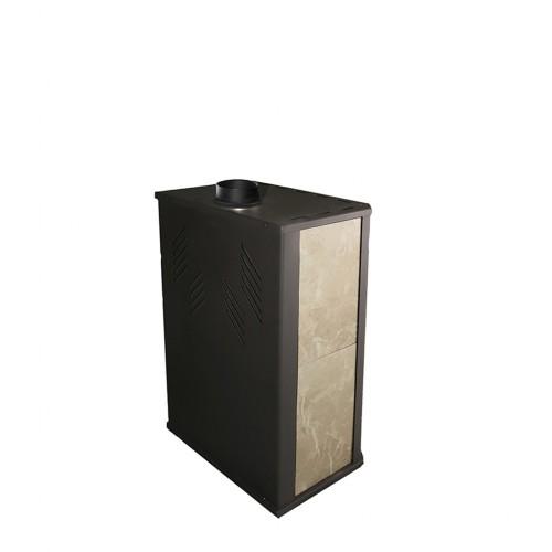 Отопительная печь-камин ЖарСталь Бранденбург с верхним дымоходом - фотография 2