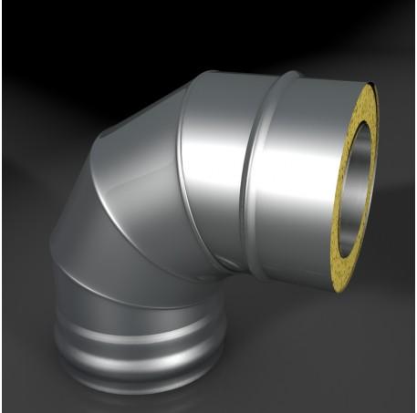 Отвод ОТ-Р 45* 304, 0,5/304, 0,5 d 150/250 с хомутом на замке ТИС - фотография 1