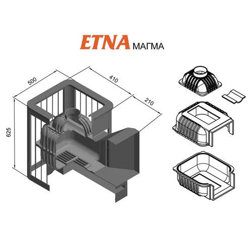 Печь для бани Этна Магма 14 (ДТ-3) - фотография 2