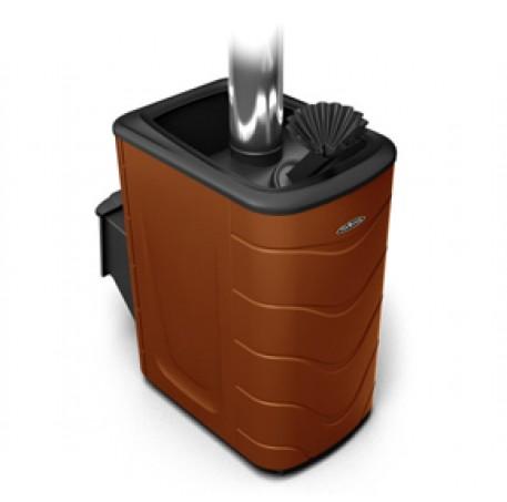 Банная печь Термофор Гейзер 2014 Carbon ДА ЗК терракота - фотография 1