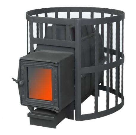 Банная печь ПароВар 22 сетка-ковка (К201)